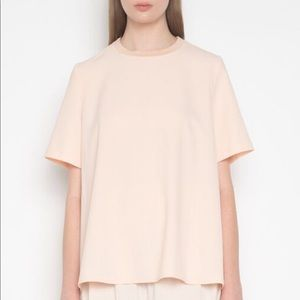 Pink Flowy Short-Sleeved Blouse XS